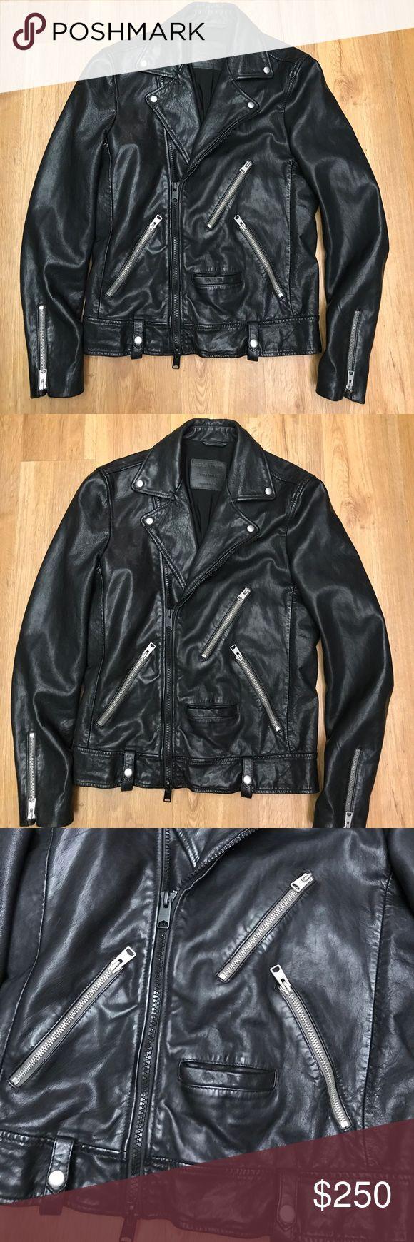 ALLSAINTS black leather Moto jacket size Xs Beautiful Allsaints leather jacket in excellent preowned condition size Xs Allsaints Jackets & Coats