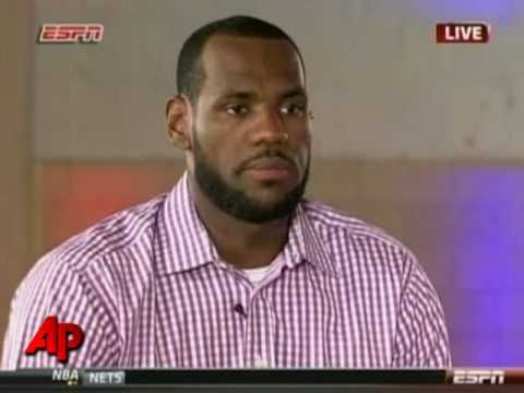 """This fall I'm gon' take my talents to South Beach and join the Miami Heat."" LeBron James Makes His Decision: Miami"