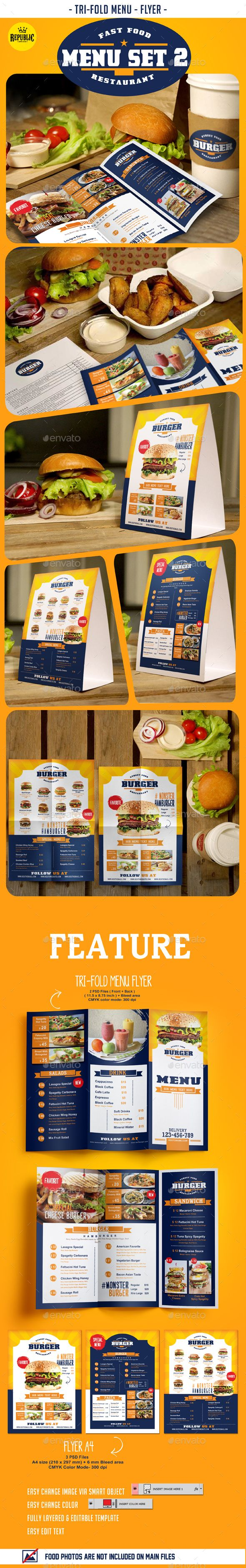 Fast Food Menu Set 2
