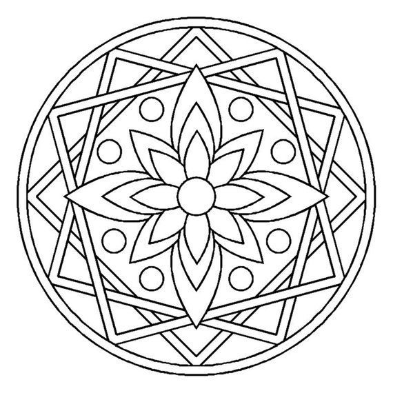 Mandala Design Products Mandaladesign Products Mandala Ausmalen Ausmalbilder Mandala Einfaches Mandala