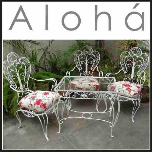 restauraci n juego de jardin de hierro antiguos sillon ...