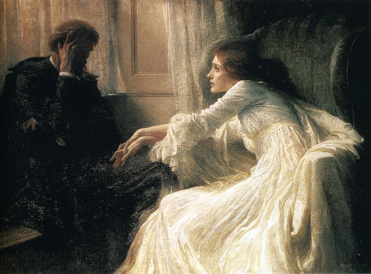 Frank Dicksee - The Confession - 1896 - Victorian Painting pg 389.jpg (1591×1177)