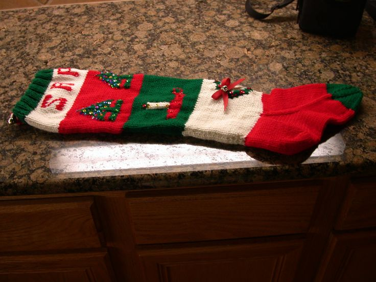 Vintage Knitted Christmas Stocking Patterns | Free Knitting Pattern:  Wool Ease® Christmas Stocking