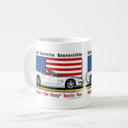 2004 Corvette Convertible Coffee Mug - home gifts ideas decor special unique custom individual customized individualized