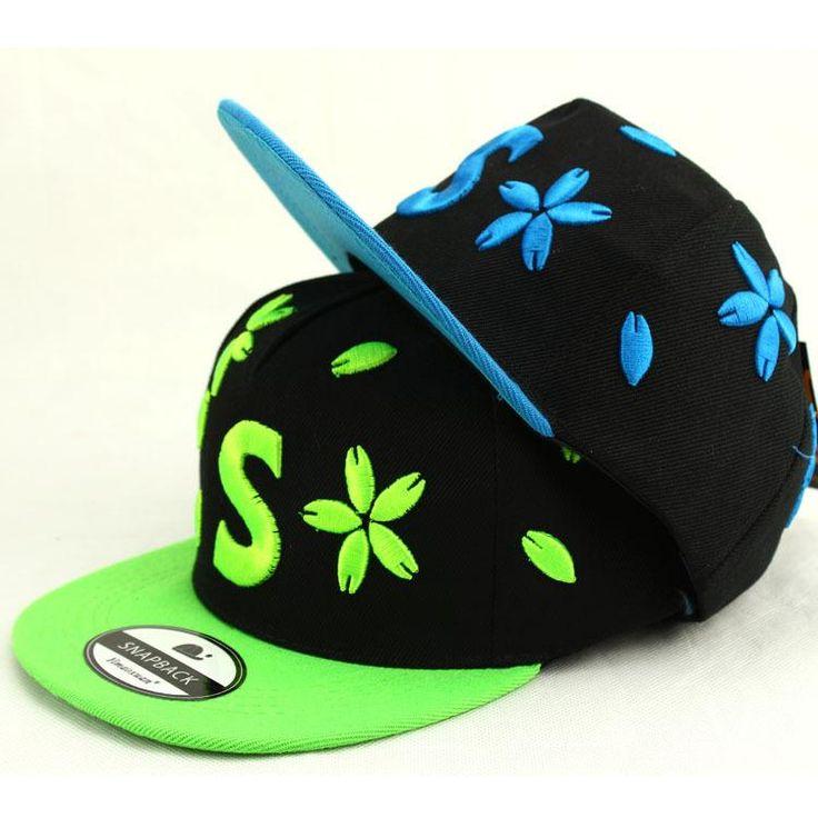 Spring children's outdoor hat Sakura pattern cap hip hop baseball cap wholesale snapback baby girl hat kid summer sun cap brand