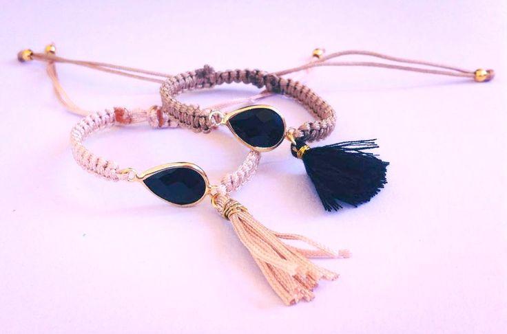Μακραμέ βραχιόλια - Macrame handmade bracelets