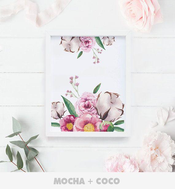 Zen Flower Peace Floral Art Print Poster Floral by MochaAndCoco