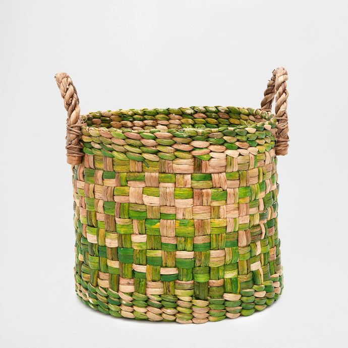 LARGE ROUND MULTICOLOURED BASKET - Baskets - Bathroom | Zara Home United Arab Emirates