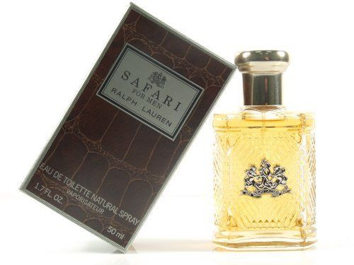 Safari For Men by Ralph Lauren Eau De Toilette Spray, 1.7 Ounce by Ralph Lauren. $82.45. 1.7 ounce. Eau de toilette spray. This item is not a tester. New, sealed. Safari for men by ralph lauren is a woody aromatic fragrance for men. Safari for men was launched in 1992. Top notes are aldehydes, artemisia, coriander, lavender, green notes, neroli, bergamot and lemon; middle notes are cyclamen, carnation, cinnamon, tarragon, jasmine and rose; base notes are leather, s...
