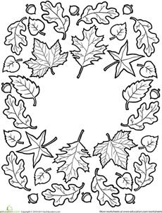 Fall Mandala Worksheet
