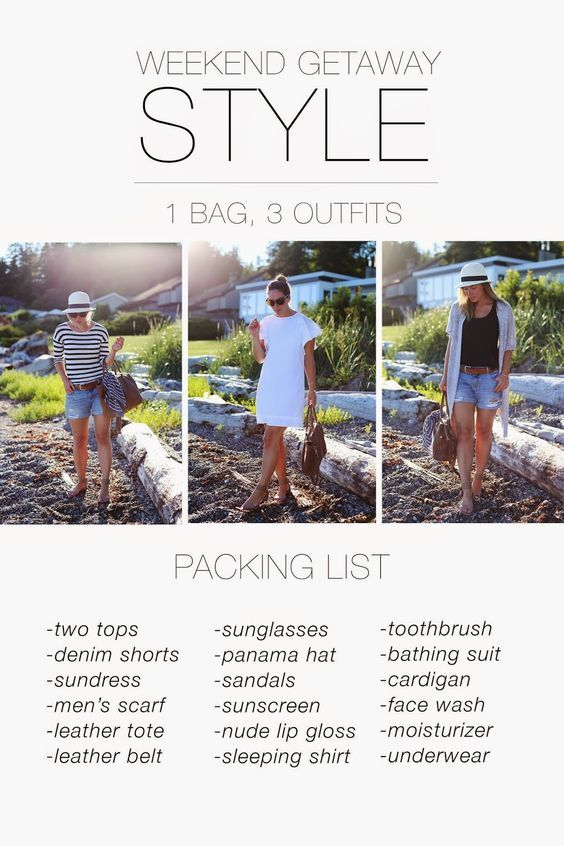 What to Pack for a Weekend Trip | http://www.tovogueorbust.com/2014/07/what-to-pack-for-weekend-trip.html: