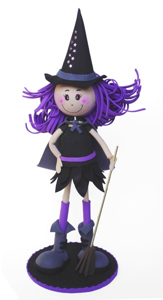 Fofucha Bruja <3 - cute witch - black outfit with purple hair
