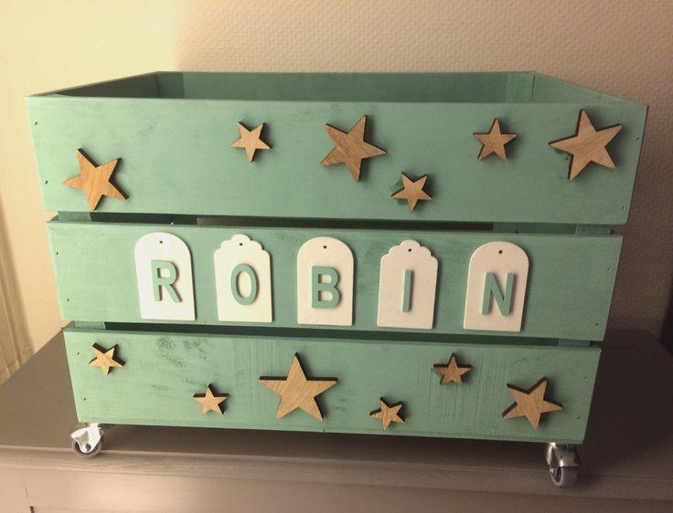 Coffre à jouets en bois : Chambre d'enfant, de bébé par princessegribouille