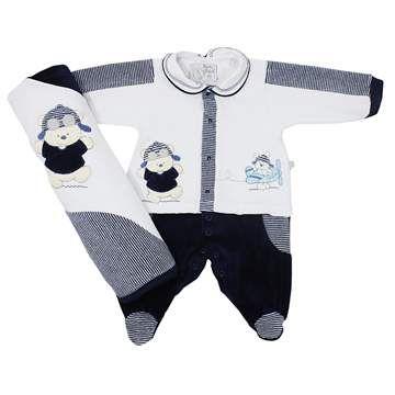 Cegonha Feliz Roupas Bebê Menino : Jogo para Saída de Maternidade - Davi Beth Bebê