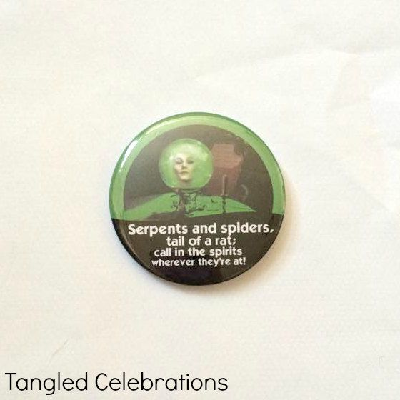 Madame Leota from The Haunted Mansion Disney Celebration Inspired Button/Pin/Badge