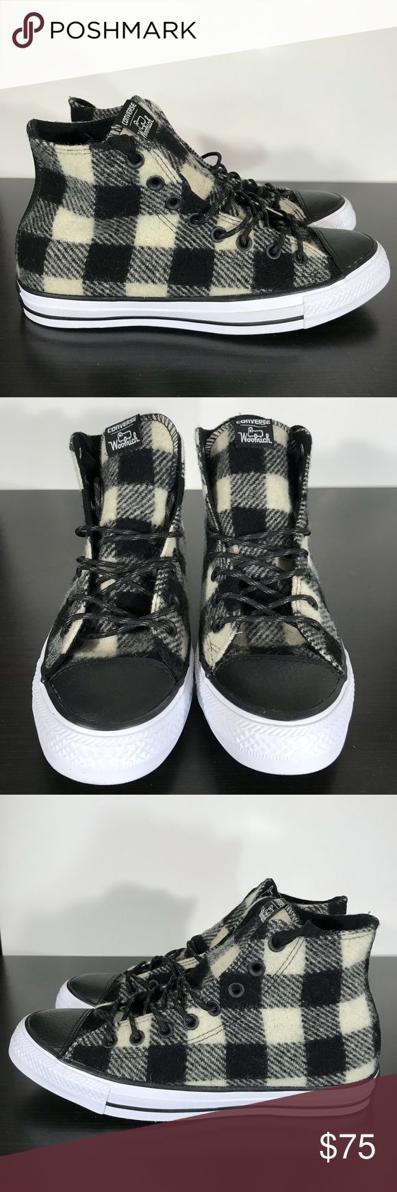 CONVERSE ALL STAR HI WOOLRICH 153834C Size 9.5 Hello Everybody!! 