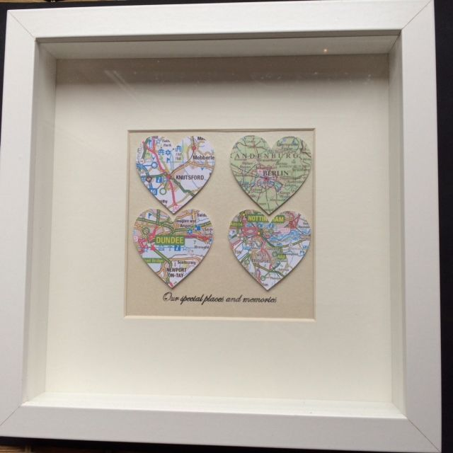 Four heart map frame 20% discount on this frame