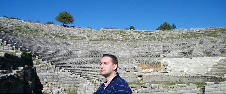 At Dodoni Ancient theatre!