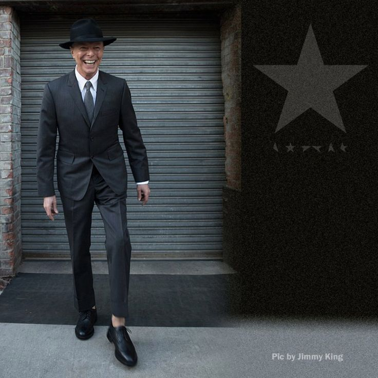"The day of his 69th birthday David Bowie put out his final studio album (Blackstar) & his website released a set of photos. Taken by his longtime photographer Jimmy King, they are believed to be the final images of Bowie. He died on Sunday evening 1/10/16 after an 18-month battle with cancer. Despite his illness, he remained active up until his death. Last week he released Blackstar along with the video for album track ""Lazarus"". See the vid on my Listen To This 2 board."