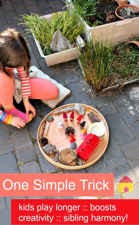 how to keep kids playing longer, boost creativity and help siblings get along, with one simple trick! :: quiet time activities hack