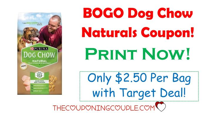 **PRINT NOW** A new BOGO Purina Dog Chow Naturals coupon! Pay only $2.50 per bag with a Target deal!  Click the link below to get all of the details ► http://www.thecouponingcouple.com/bogo-purina-dog-chow-naturals-coupon-target-deal/ #Coupons #Couponing #CouponCommunity  Visit us at http://www.thecouponingcouple.com for more great posts!