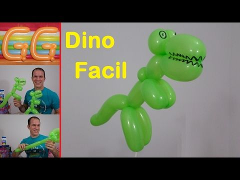 como hacer dinosaurios con globos - figuras con globos largos - cumpleaños de dinosaurios - t rex - YouTube