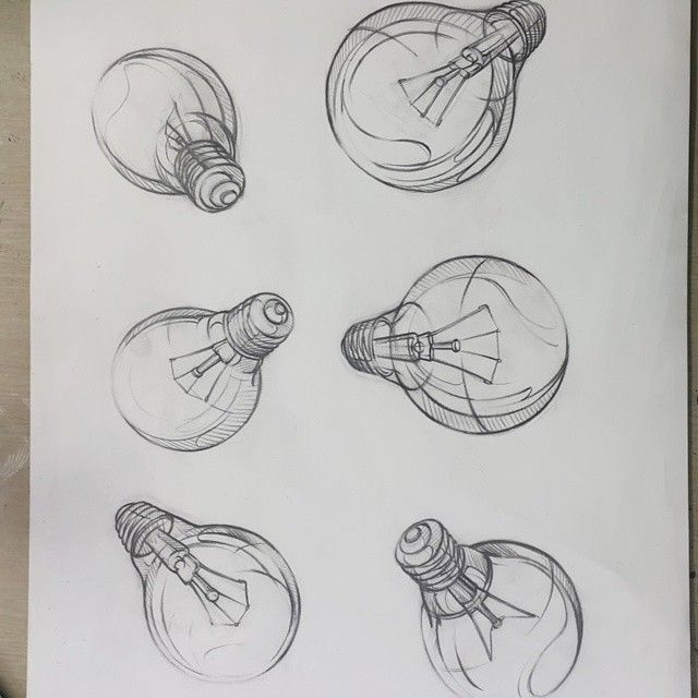 Electric bulb drawing