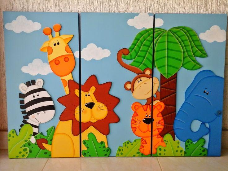 Aventuras country cuadros infantiles foami pinterest - Cuadros abstractos para ninos ...