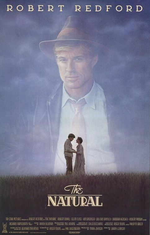 "The Natural w/ Robert Redford & Glenn Close. What a great story! ""Pick me out a winner Bobby. """