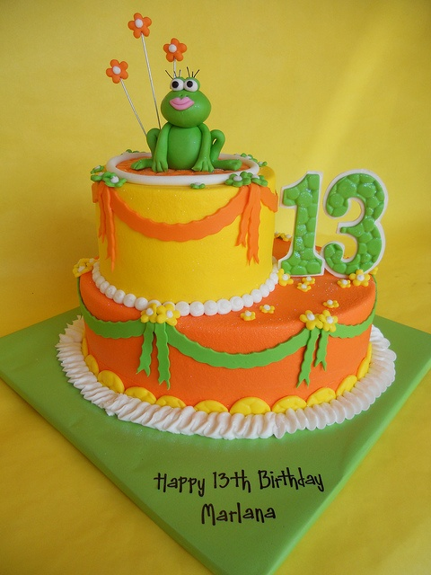 Frog Cake, Ari's birthday cake. a more manly frog, of course with a blue & green cake.