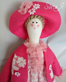 ΥΠΕΡΟΧΕΣ ΔΗΜΙΟΥΡΓΙΕΣ: Кукла в стиле тильда Леди в розовом