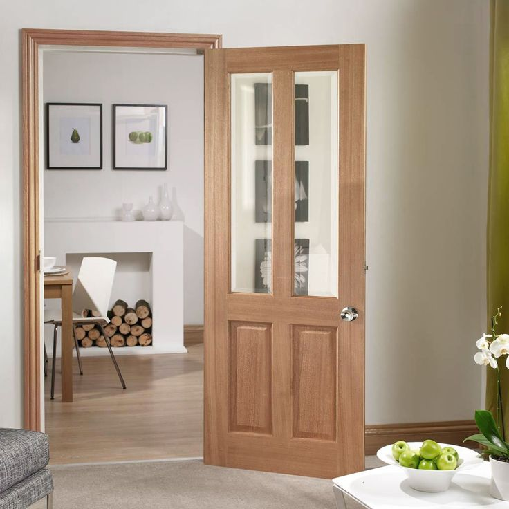 Malton Mahogany Door with Bevelled Clear Glass. #mahoganydoor #glazeddoors #mahoganyglazeddoors