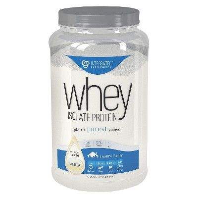 Integrated Supplements Whey Isolate Protein Powder - Vanilla - 1.85lb : Target