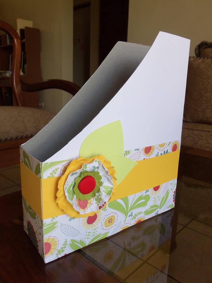 Reciclando una caja de cereal