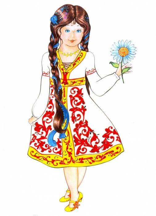 Русская девушка в национальном костюме картинки для детей