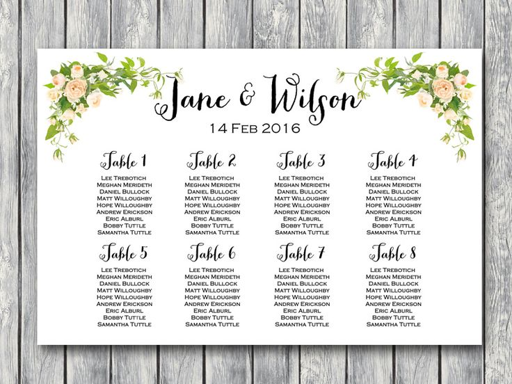 Peonies Wedding Seating Chart Printable, Instant Download, Free Wedding Seating Charts, Find your Seat Charts, Free Wedding Printables