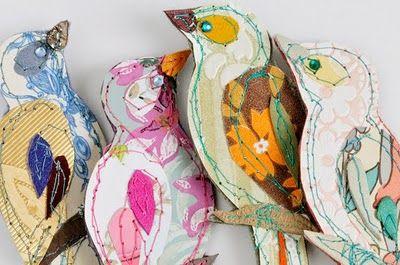 Claire Coles - Vintage Wallpaper Birds