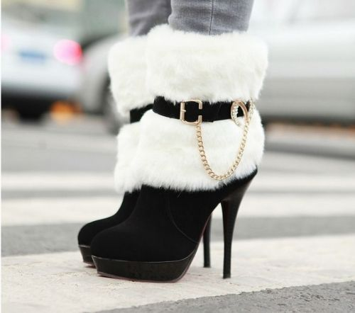 Latest Warm and cozy in the winter-High Heels Boots  High Heels Boots (black) High Heels Boots from stylishplus.com