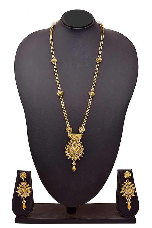 BFC-Traditional Ethnic One Gram Gold Plated Designer Long Necklace Set with Earrings for Women & Girls. Necklace Ht: 31 cm, Wt: 59 gms, Total Weight: 77 gms Earring Size :- Ht: 6.5 cms, Wd: 2.8 cms, Wt: 10 gms.  OFFER Price INR 1899/- Cash on delivery  Original Price INR 2999/- Product Code: NS-10025-112-AP Free Shipping n COD in India, International Shipping Available. To Order: Pls. forward your complete postal address with landmark, mobile no.n email on buyforchange@gmail.com or…