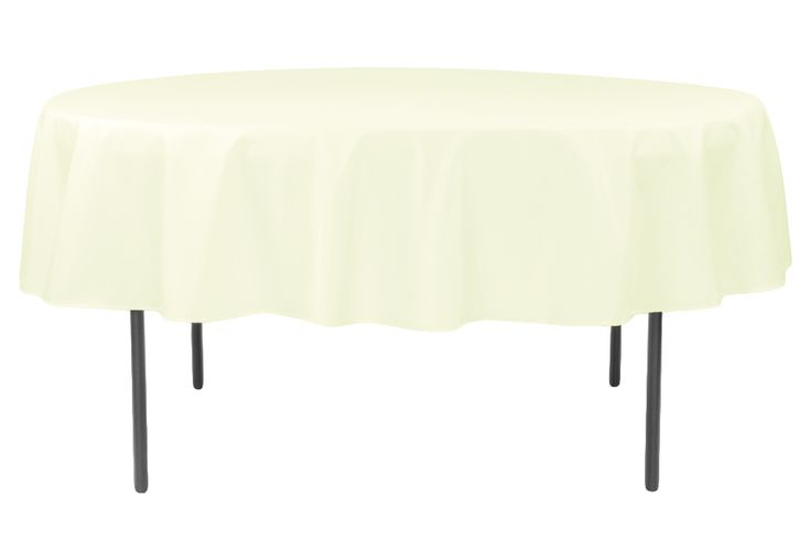 """Polyester 90"""" Round Tablecloth - Cream (Clearance)"""
