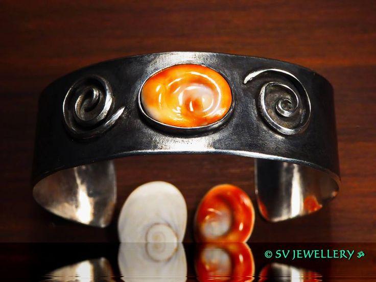 Oxidized,Sterling Silver Bracelet with Shiva Eye from Kythera