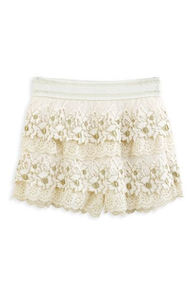 Cutout Crocheted Lace Shorts OASAP.com