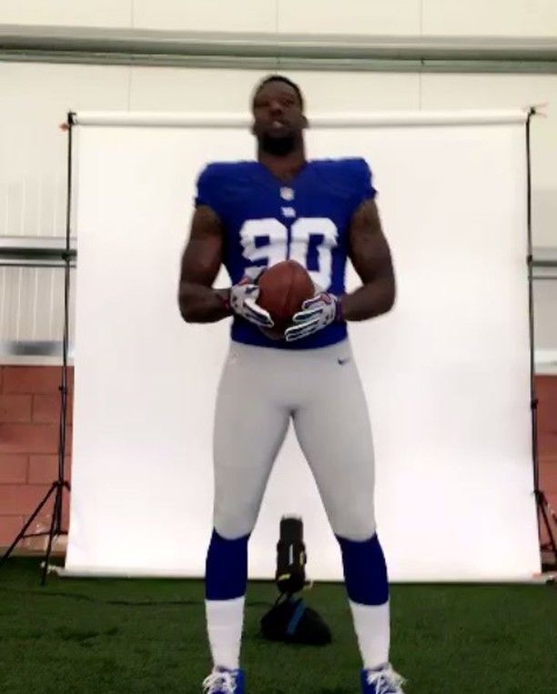 Jason Pierre-Paul's hand looks fully recovered no problems palming a football while wearing a custom glove during giants promo photoshoot - via his Instagram  http://ift.tt/1NPUHzu via /r/nfl http://ift.tt/1P0vXVq kleindrive