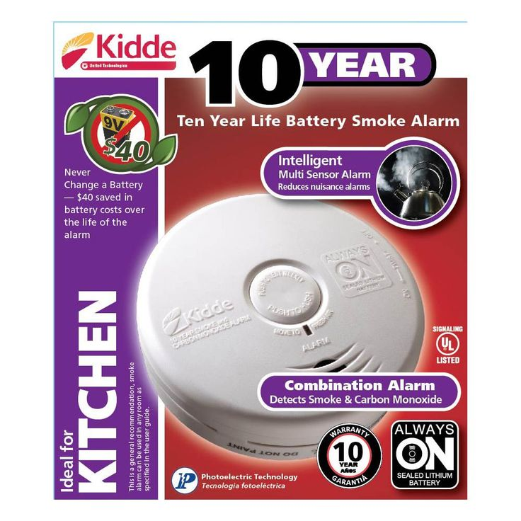 Kidde 10-Year Battery Operated Combination Photo Electric Smoke and Carbon Monoxide Detector