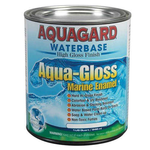 Aquagard Aqua Gloss Water Based Marine Enamel Quart Bottom Paint Aqua Marine