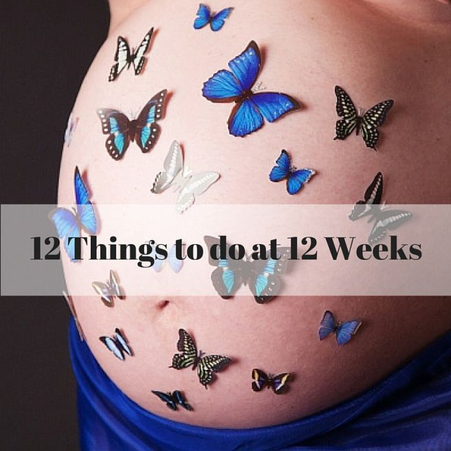 12 Things to do once you reach 12 weeks pregnant. This site also has a week by week pregnancy diary/journal.