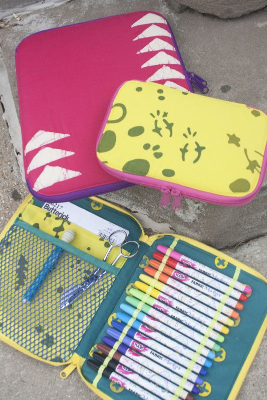 zippered pencil supply case - have the pattern