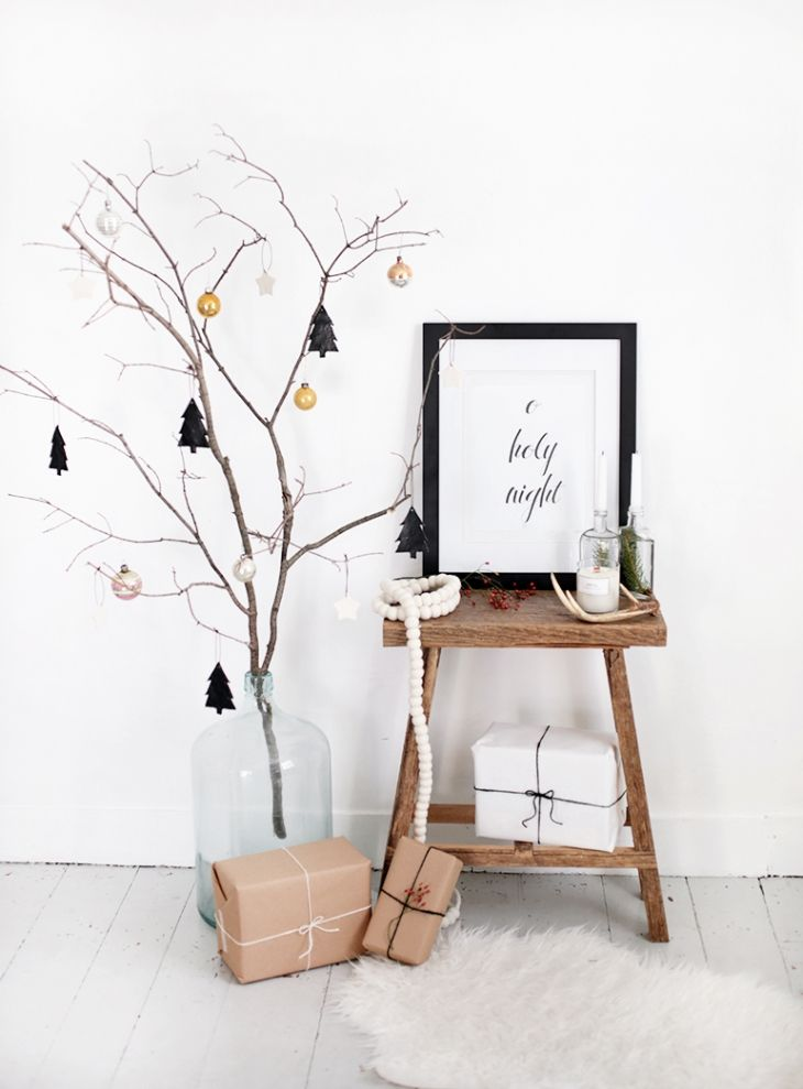 Tree Branch Christmas Display by themerrythought