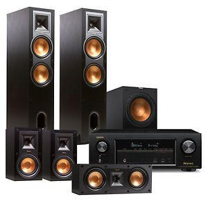 Denon AVR-X1300W 7.2 Channel Receiver with Klipsch R28F 5.1 Speaker Package   eBay
