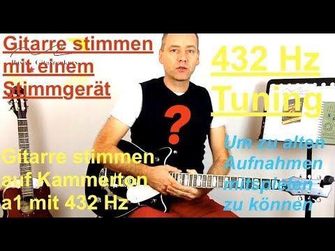 Gitarre stimmen mit einem Stimmgerät und 432 Hz Tuning